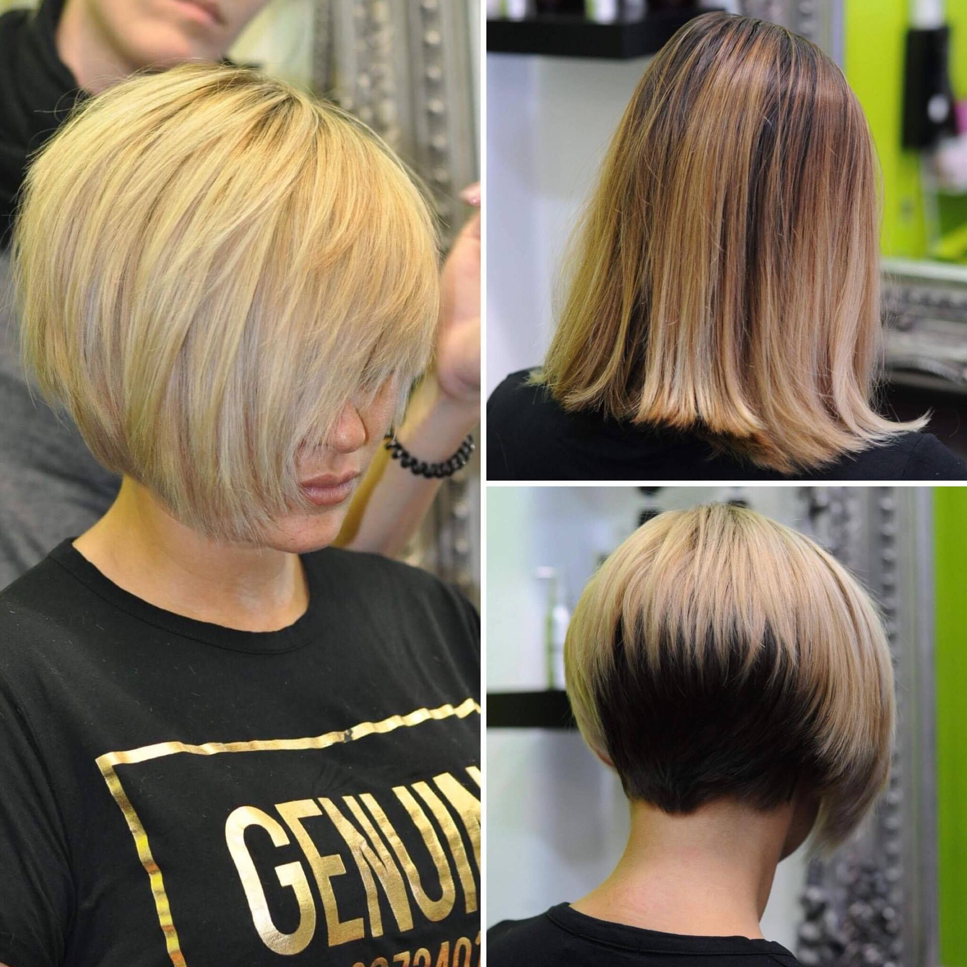 Transformation. From long bob to a 2-tone sexy short