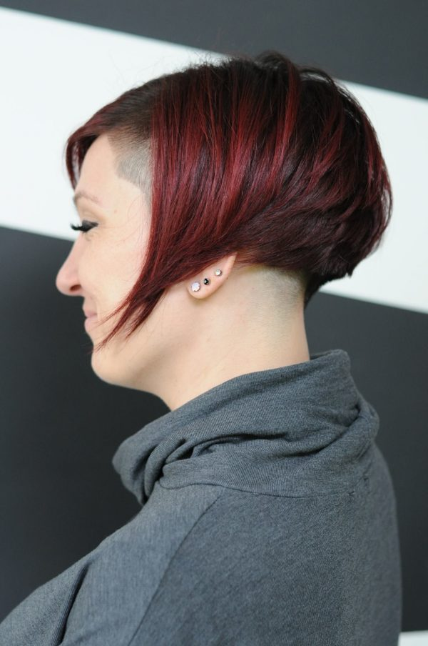 Woman cut and colour