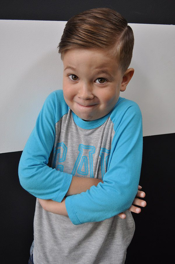 Boy haircut - super cute