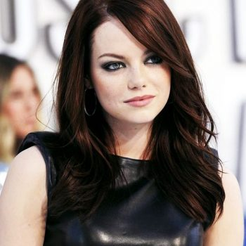 Emma Stone Hot chocolate red