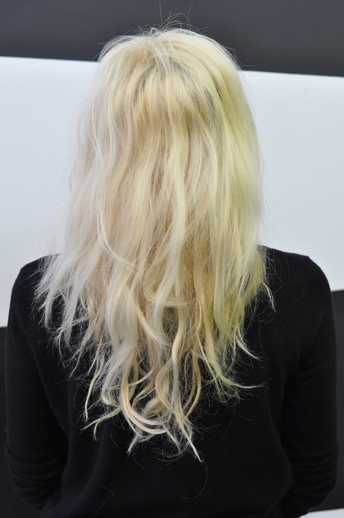 Before Olaplex stand-alone treatment