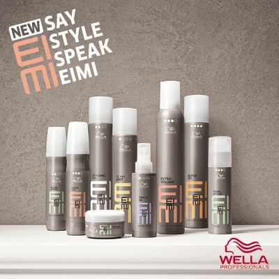 Wella Eimi haircare and styling products