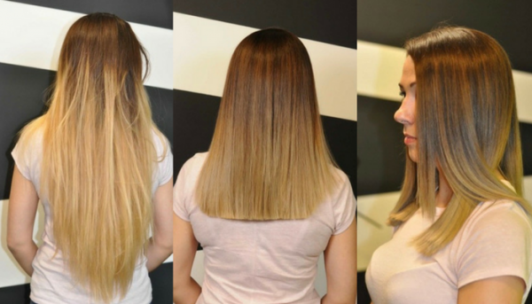 Ombre Before - and Ombre After, by Abby