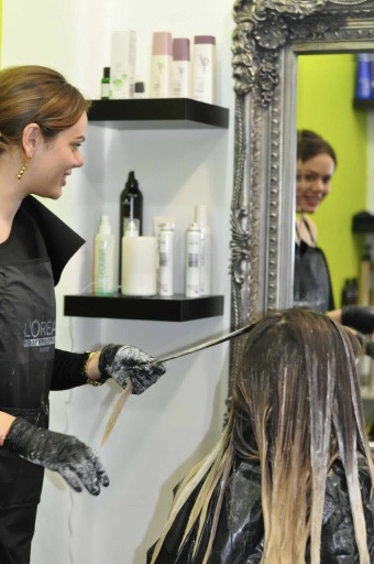 Blending. Creating a beautifully smooth ombre