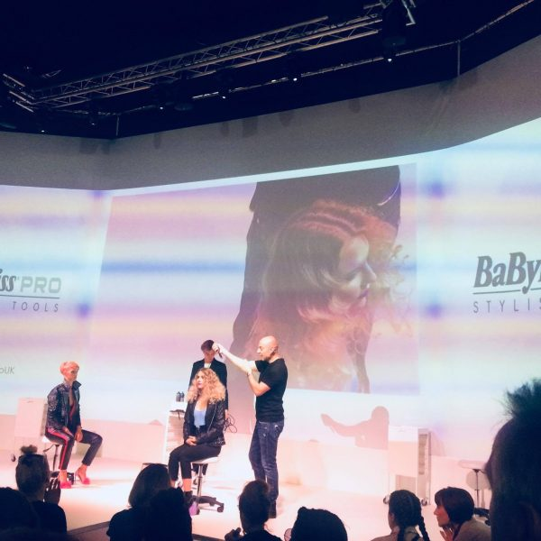 Darren Websiter in action on the Babyliss stage