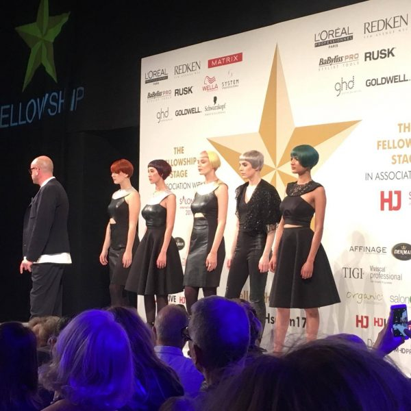 Pixie cuts on the Fellowship of British Hairdressing stage