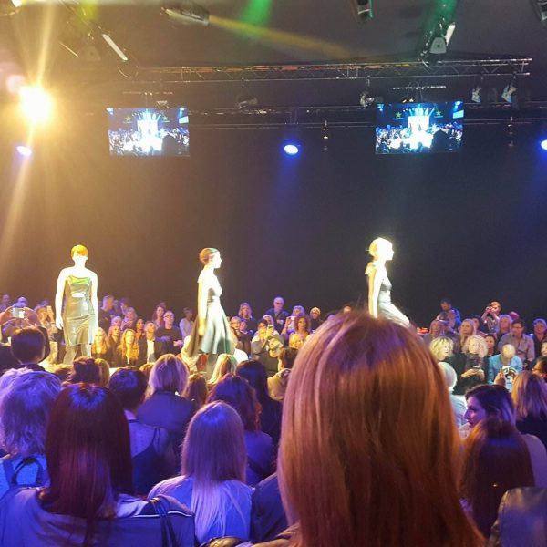 The atmosphere around the catwalk of Fellowship of British Hairdressing