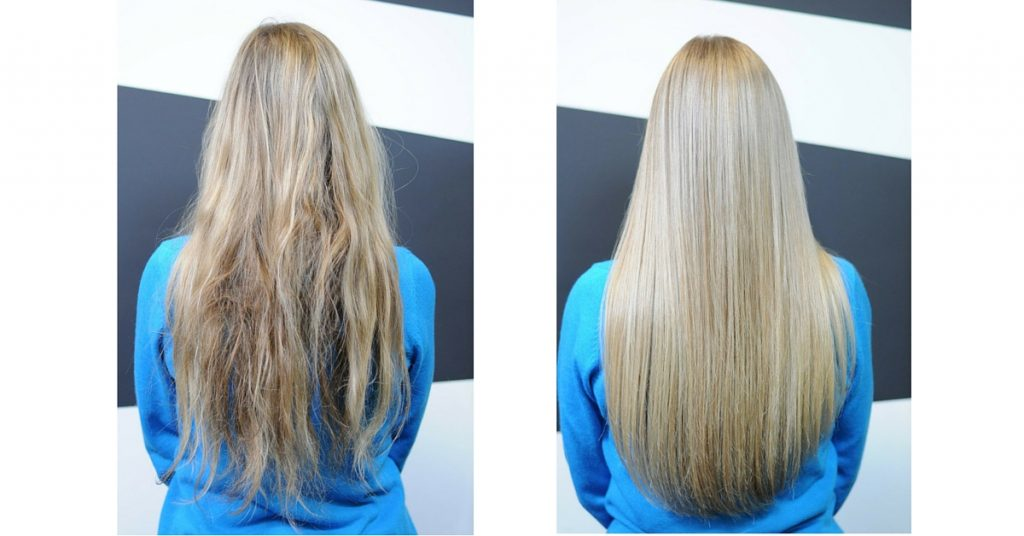L'Oreal Pro Fiber - Before and after a salon treatment