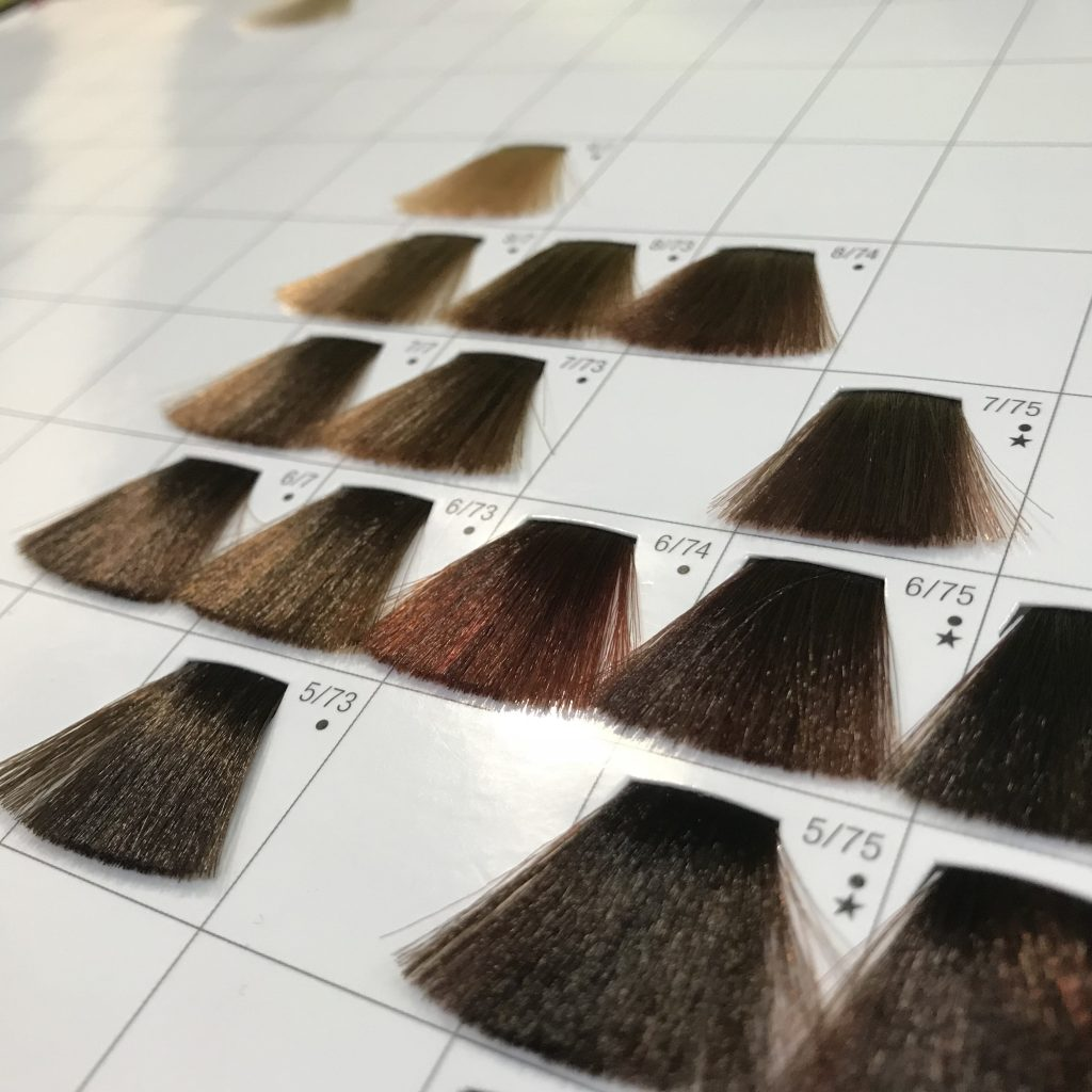 Hair colour chart