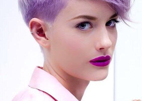 Ultra violet hair