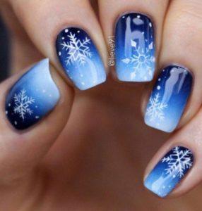 Christmas nails - Ice, ice baby