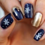 Christmas nails - Midnight glamour