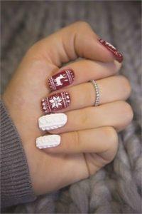 Christmas nails - Knitwear