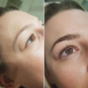 lash lift & tint treatment