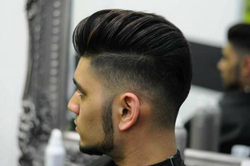High-fade pompadour